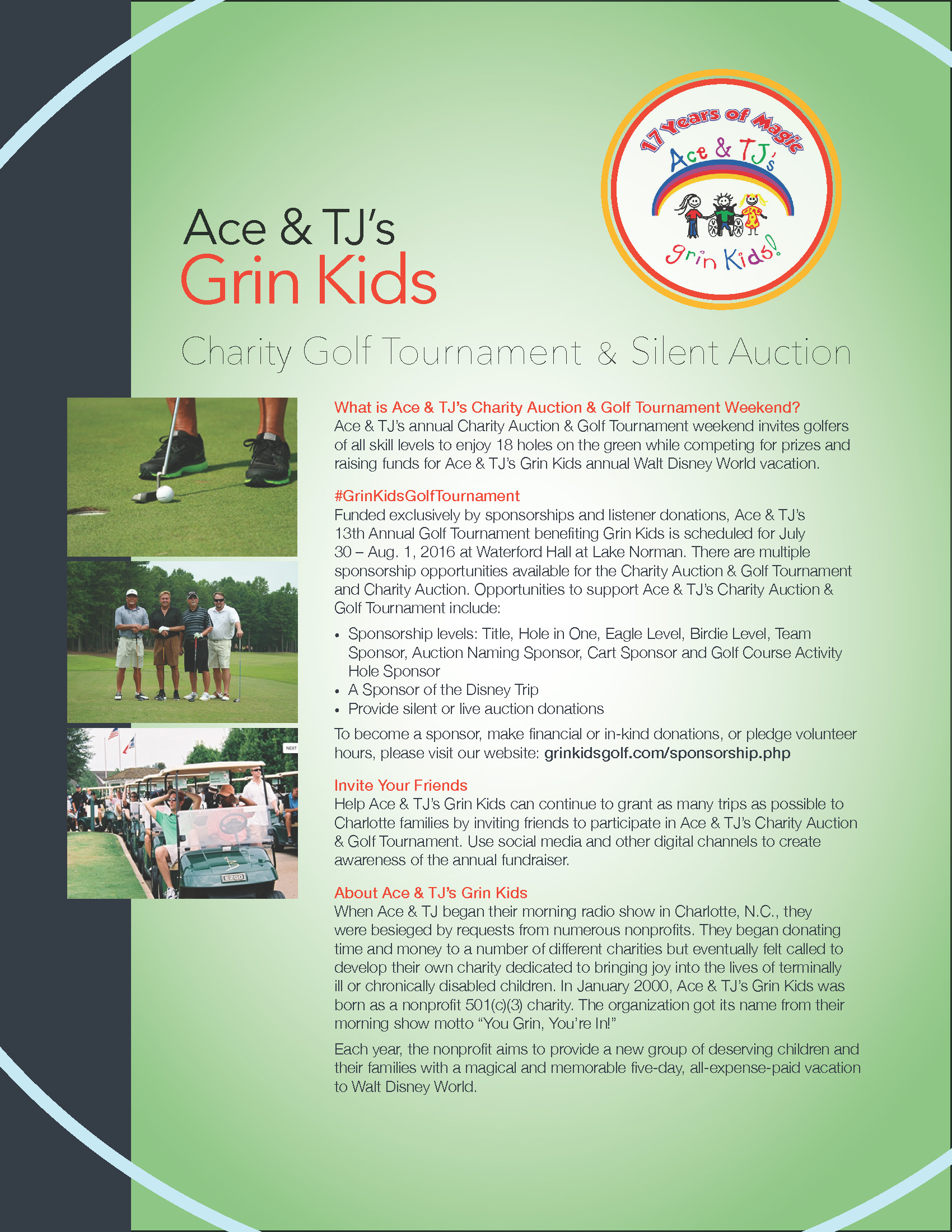 Ace fundraising prizes